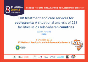 HIV treatment and care services for adolescents - A situational analysis of 218 facilities in 23 sub-Saharan countries