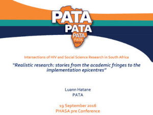 Intersections of HIV and Social Science Research in South Africa