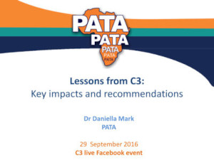 Lessons from C3 - Key impacts and recommendations