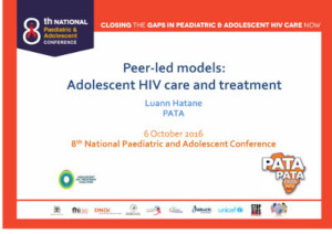Peer-led models - Adolescent HIV care and treatment
