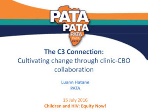 The C3 Connection - Cultivating change through clinic-CBO collaboration