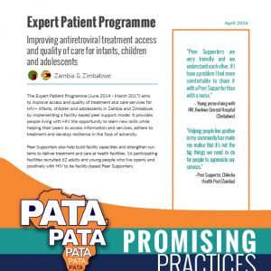Expert Patient Programme: Improving ART access and care quality