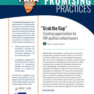 """""""Grab the Gap"""": Creating opportunities for HIV-positive school leavers"""