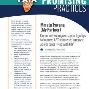 Mmata Tswana (My Partner): Community caregiver support groups