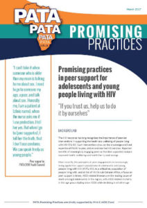 Peer-led services: Promising practices