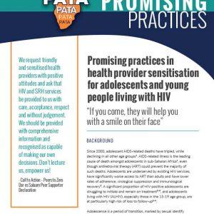 Promising practice: Health care worker sensitization