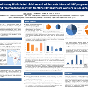 Transitioning HIV-infected children and adolescents into adult HIV programmes: Barriers and recommendations from frontline HIV healthcare workers in sub-Saharan Africa