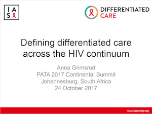 Defining differentiated care across the HIV continuum