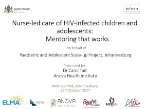 Nurse-led care of HIV-infected children and adolescents: Mentoring that works
