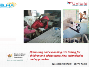 Optimising and expanding HIV testing for children and adolescents: New technologies and approaches