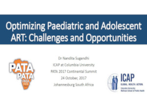 Optimizing paediatric and adolescent ART: Challenges and opportunities