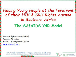 Placing young people at the forefront of their HIV & SRH rights agenda in Southern Africa