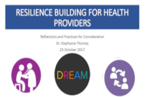 Resilience building for health providers