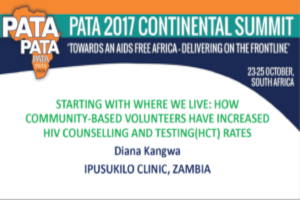 Starting with where we live: How community-based volunteers have increased HIV counselling and testing (HCT) rates