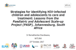 Strategies for identifying HIV-infected children and adolescents to care and treatment: Lessons from the PASP