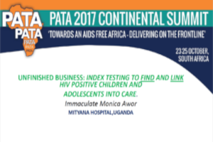 Unfinished business: Index testing to find and link HIV positive children and adolescents into care