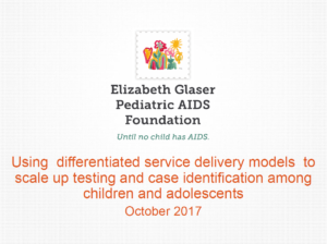 Using differentiated service delivery models to scale up testing and case identification among children and adolescents
