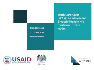 Youth Care Clubs: An adolescent and youth-friendly HIV treatment and care model