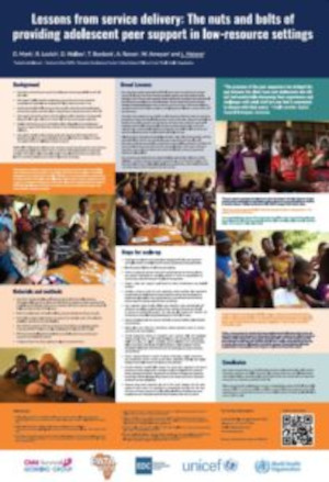 Lessons from service delivery: The nuts and bolts of providing adolescent peer support in low-resource settings