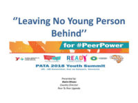 BMoses_Leaving no young person behind_Peer to Peer Uganda PATA Summit 2018 Presentations