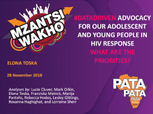 #DataDriven advocacy for our adolescent and young people in HIV response