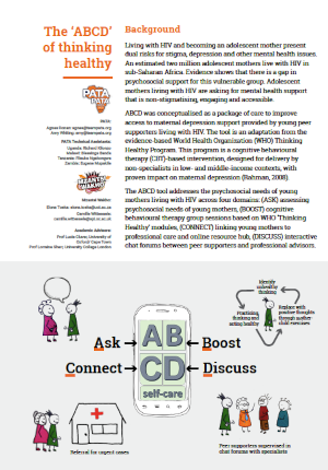 The 'ABCD' of thinking healthy