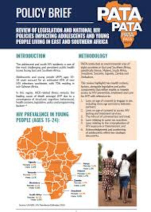 Policy Brief: Review of Legislation and National HIV Policies Impacting Adolescents and Young People Living in East and Southern Africa
