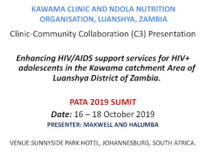 Enhancing HIV/AIDS support services for HIV+ adolescents in the Kawama catchment area of Luanshya district of Zambia