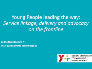 Young People leading the way: Service linkage, delivery and advocacy on the frontline