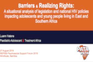 Barriers & realizing rights: A situational analysis of legislation and national HIV policies impacting adolescents and young people living in East and Southern Africa
