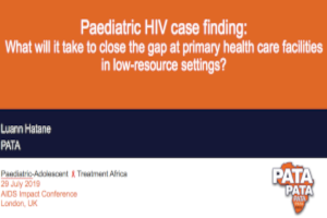 Paediatric HIV case finding: What will it take to close the gap at primary health care facilities in low-resource settings