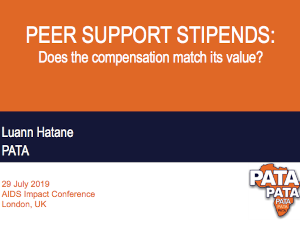 Peer support stipends: Does the compensation match its value