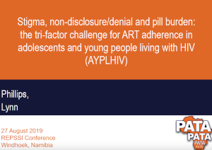 Stigma, non-disclosure/denial and pill burden: The tri-factor challenge for ART adherence in AYPLHIV