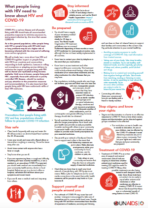 What people living with HIV need to know about HIV and COVID-19: Infographic