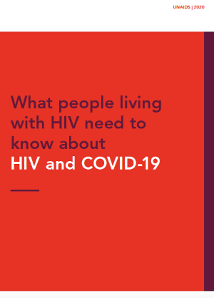 What people living with HIV need to know about HIV and COVID-19