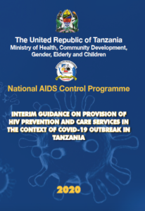 Interim guidance on provision of HIV prevention and care services in the context of COVID-19 outbreak in Tanzania