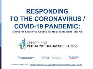 Responding to the Coronavirus/COVID-19 pandemic: Toolkit for emotional coping for healthcare staff (TECHS)