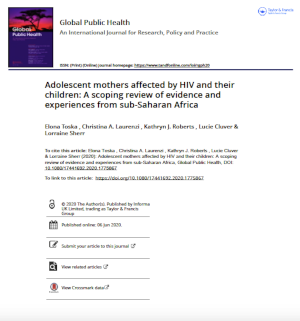 Adolescent mothers affected by HIV and their children: A scoping review of evidence and experiences from sub-Saharan Africa