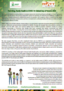 Parenting, Family Health & COVID-19: Global Day of Parents 2020