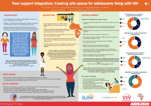 Peer support integration: Creating safe spaces for adolescents living with HIV
