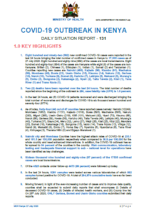 COVID-19 Outbreak in Kenya Daily Situation Report