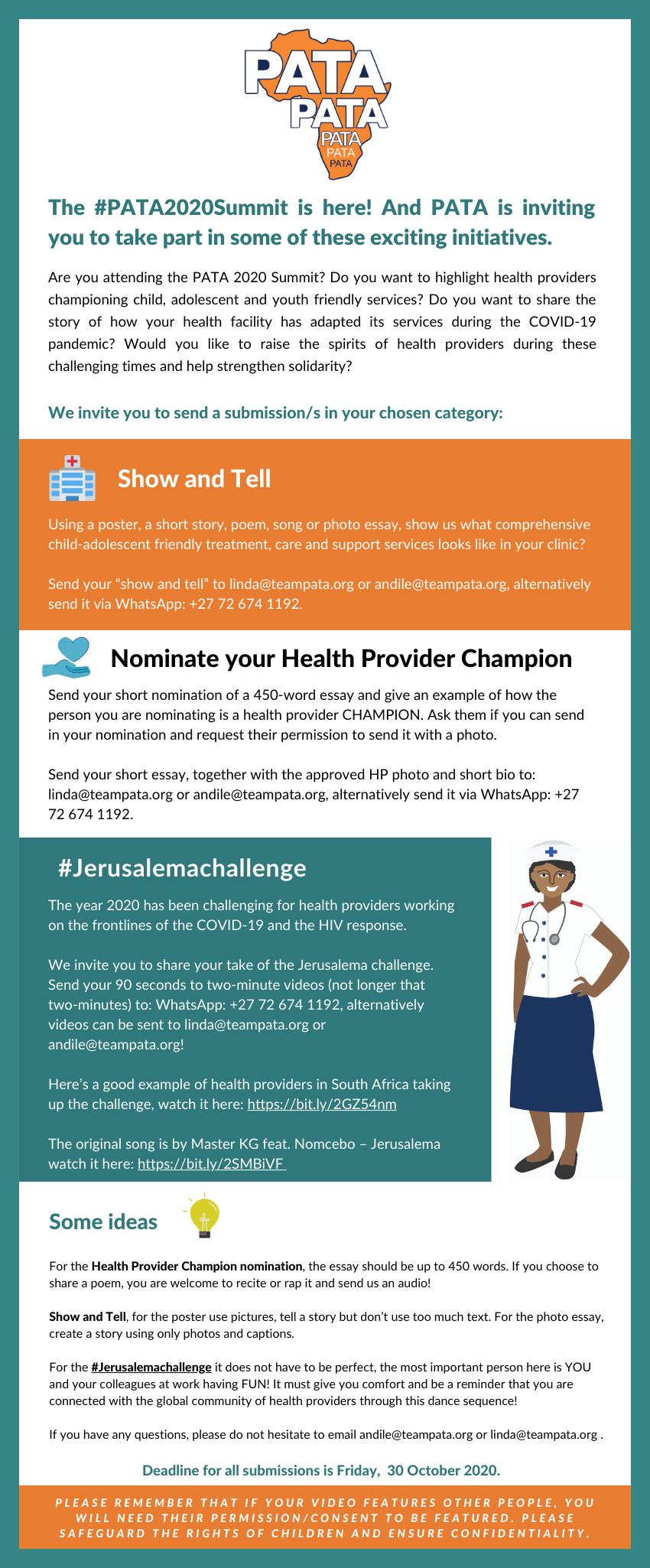 PATA 2020 Summit: Nominate a Health Provider Champion