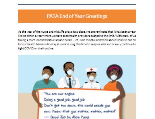 PATA December 2020 Newsletter
