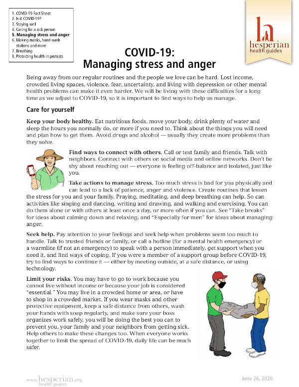 Managing stress and anger