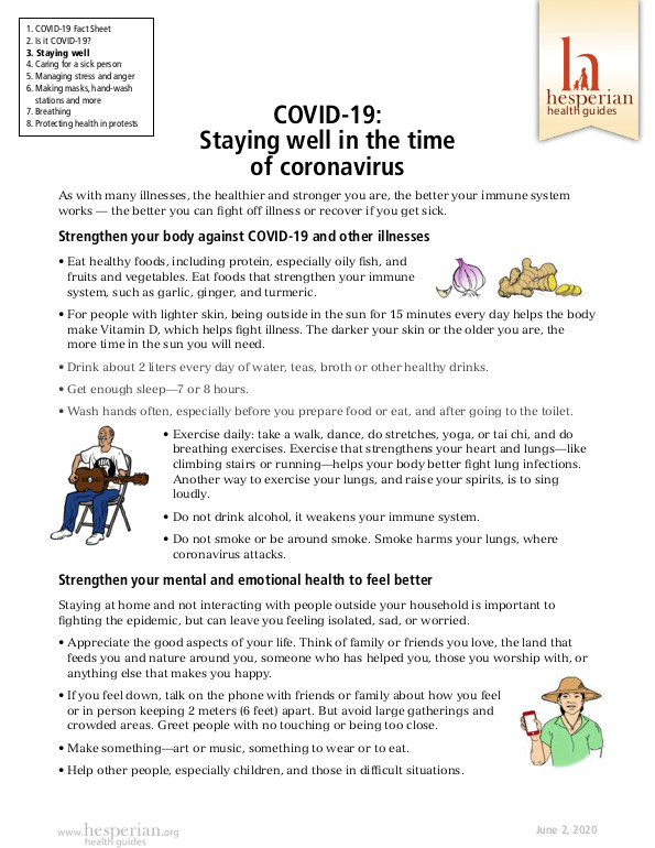 Staying well in the time of coronavirus